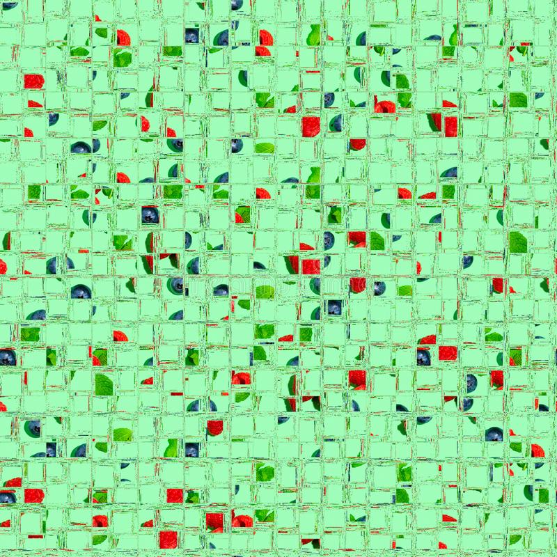 Projeto abstrato do mosaico da colagem do fundo imagem de stock royalty free