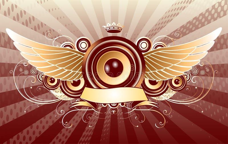 Projeto abstrato do partido ilustração royalty free