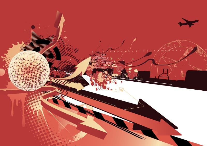 Projeto abstrato do partido ilustração stock