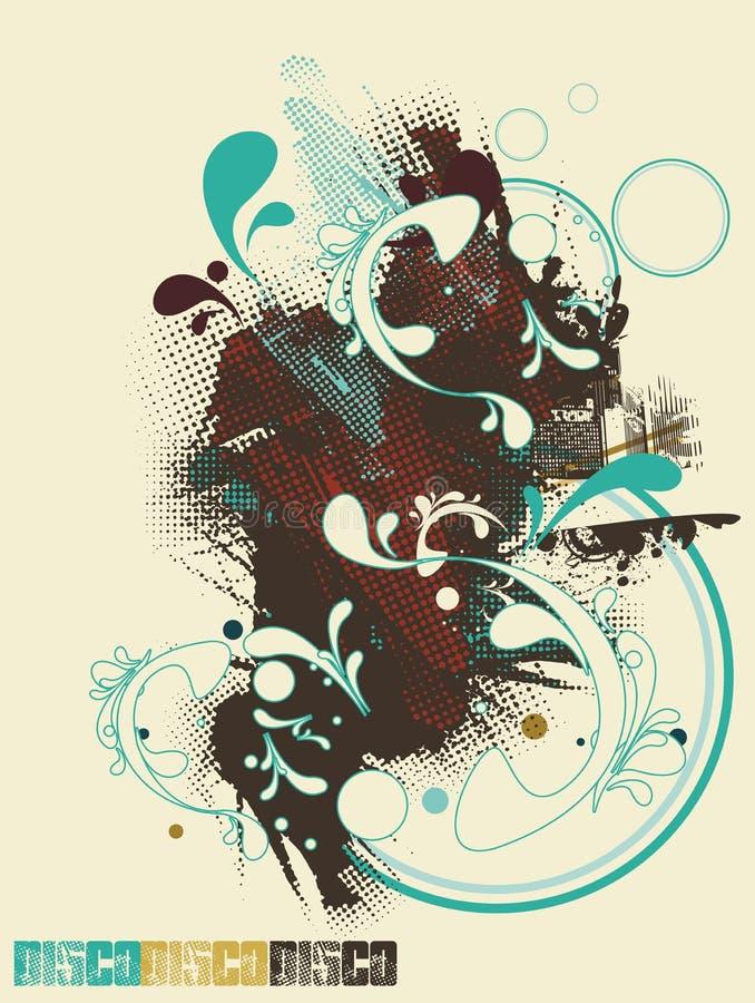 Projeto abstrato do poster ilustração stock