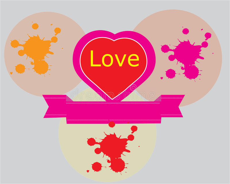 Projeto abstrato do símbolo do amor fotos de stock