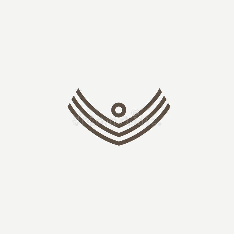 Projeto abstrato do vetor do ícone do logotipo do atleta Gym, jogos dos esportes, aptidão, negócio, logotipo do vetor do instruto ilustração stock