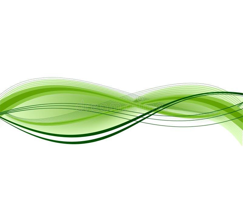 Projeto abstrato do vetor da ecologia ilustração stock