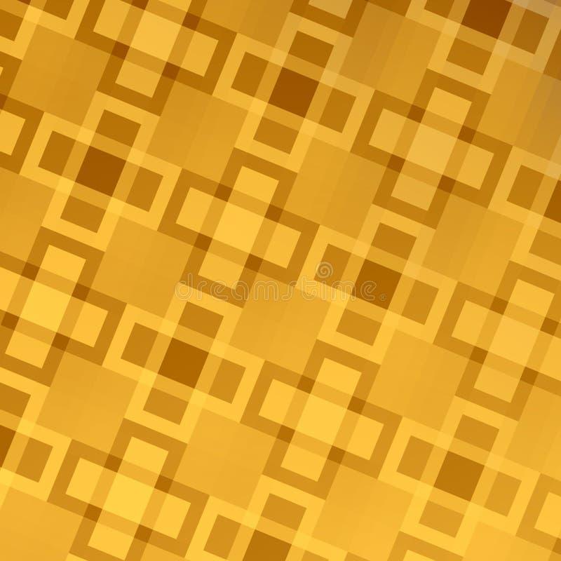 Projeto abstrato dourado do fundo da Web - teste padrão ilustração stock