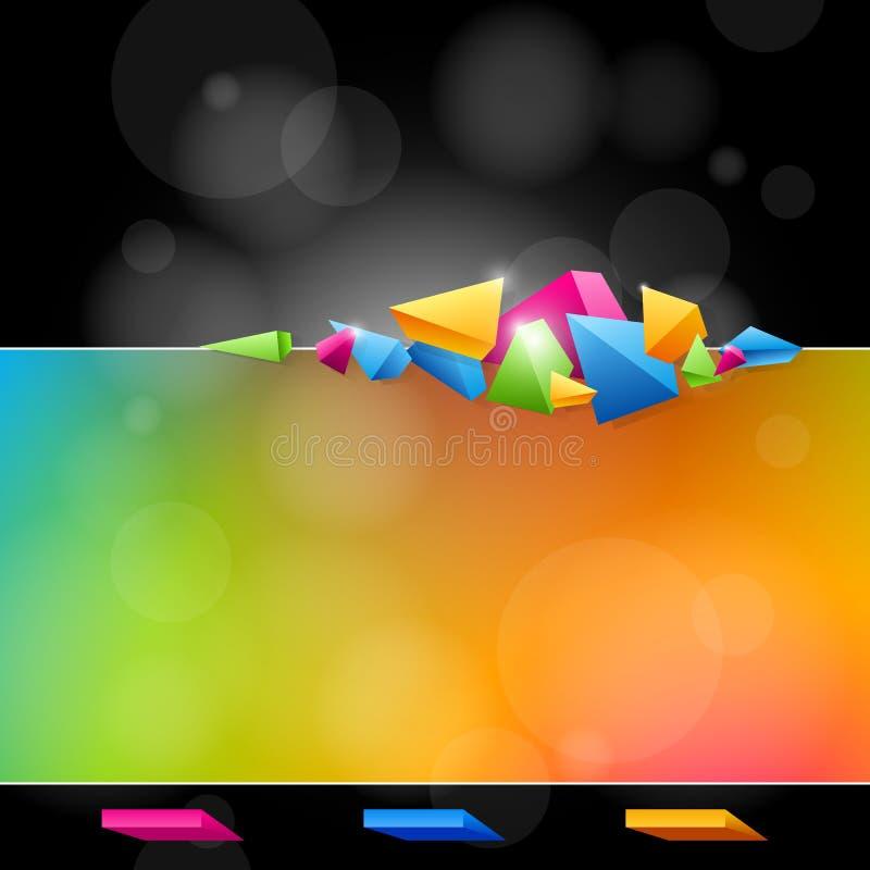 Projeto abstrato em cores brilhantes ilustração do vetor