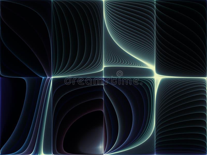 Geometria virtual ilustração stock