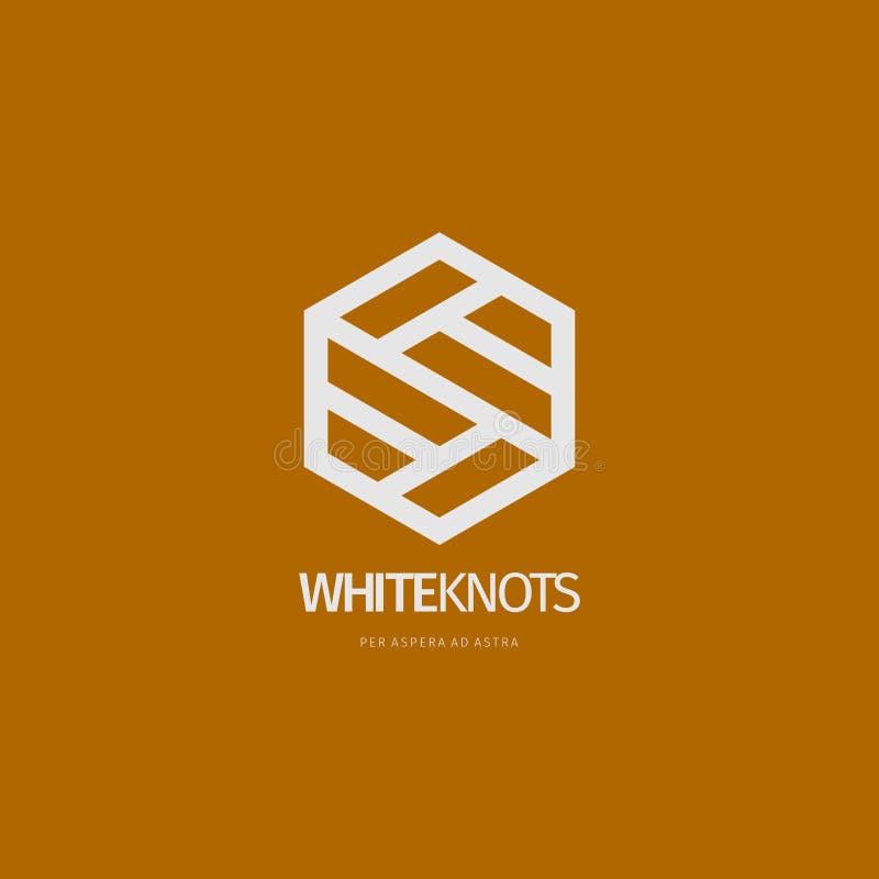 Projeto abstrato moderno do logotipo ou do elemento Melhor para a identidade e os logotypes imagens de stock
