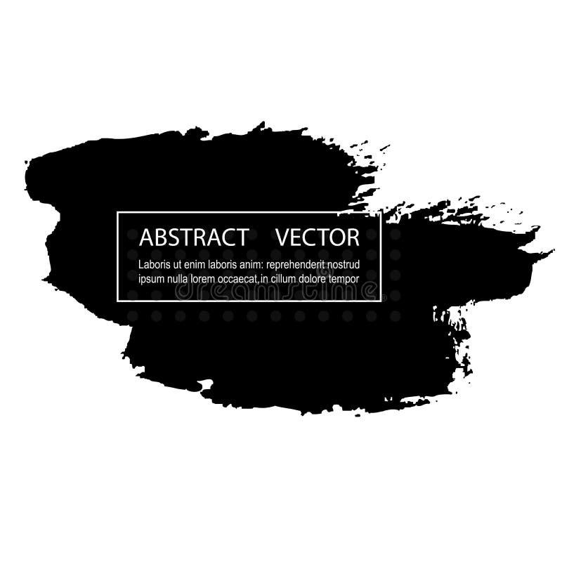 Projeto abstrato preto Cubra a pintura no folheto, elemento monocromático isolado no branco ilustração stock