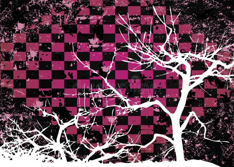 Projeto abstrato sujo da árvore do outono ilustração royalty free