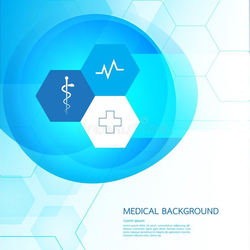 Projeto abstrato VE do molde do conceito do fundo médico das moléculas ilustração do vetor