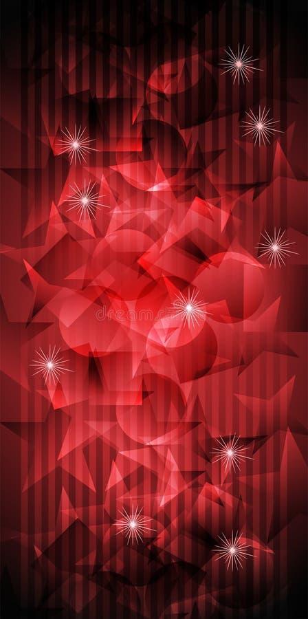 Projeto abstrato vermelho e preto com efeito da luz ilustração royalty free