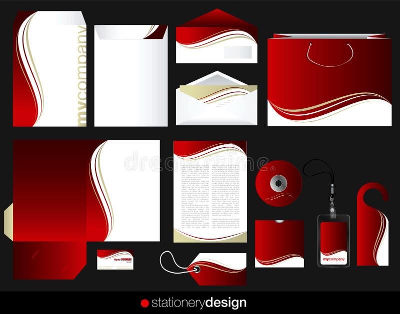 Projeto ajustado dos artigos de papelaria ilustração stock
