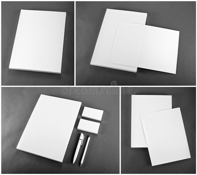 Projeto ajustado dos artigos de papelaria Molde dos artigos de papelaria Template corporativo para artes -finais do negócio fotografia de stock