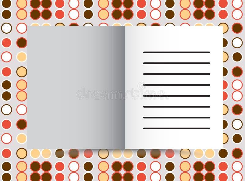Projeto alaranjado da tampa para o informe anual, o catálogo ou o compartimento, o livro ou o folheto, a brochura ou o inseto ilustração royalty free