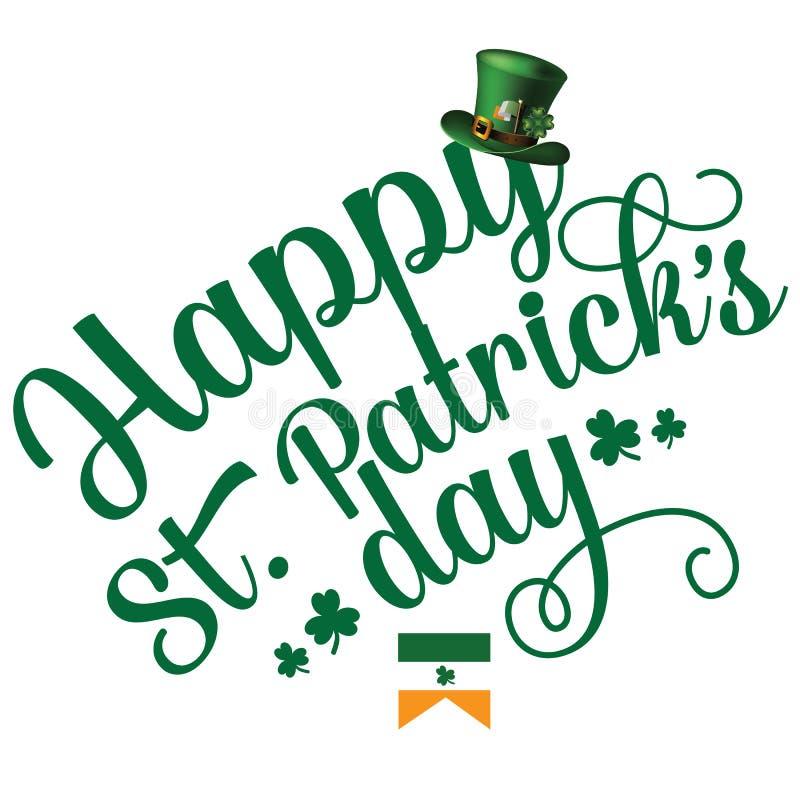 Projeto alegre do texto do dia feliz do St Patrick's ilustração royalty free