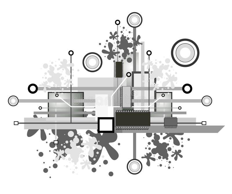 Projeto alta tecnologia ilustração royalty free