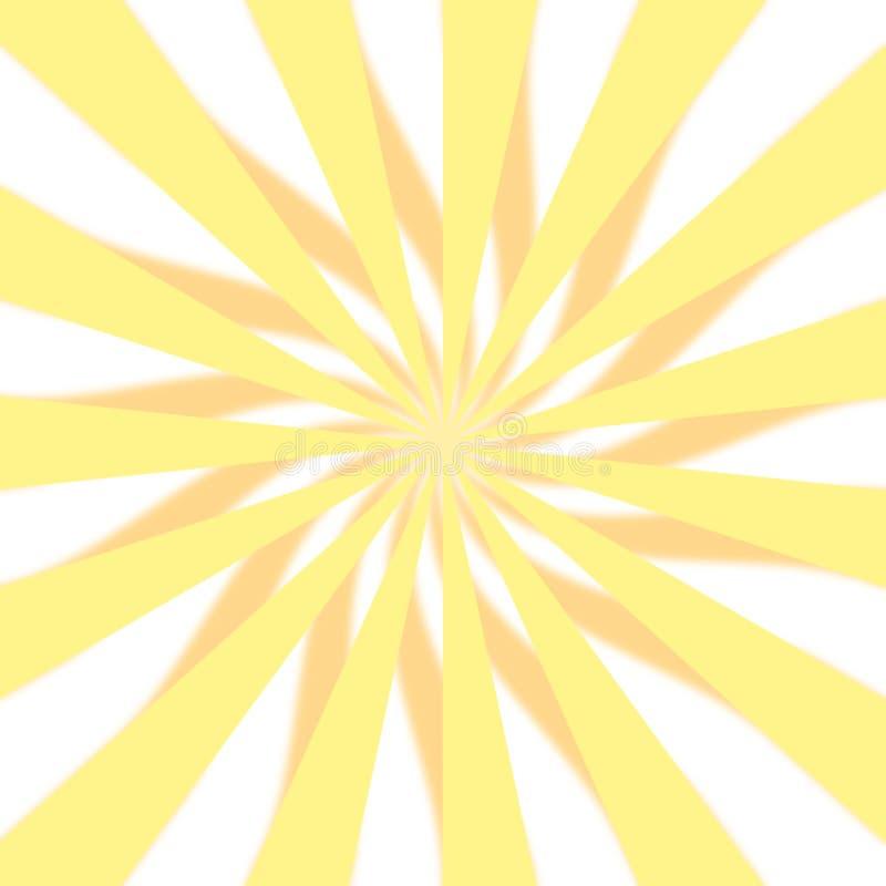 Projeto amarelo de 3D Starburst foto de stock