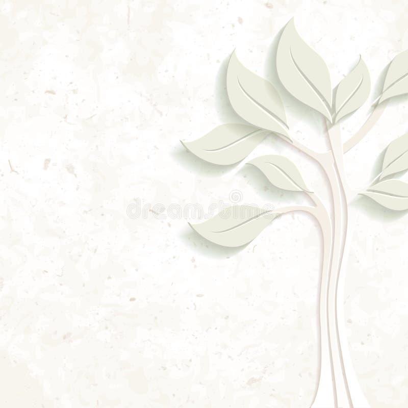 Projeto ambiental com textura de papel e árvore ilustração do vetor