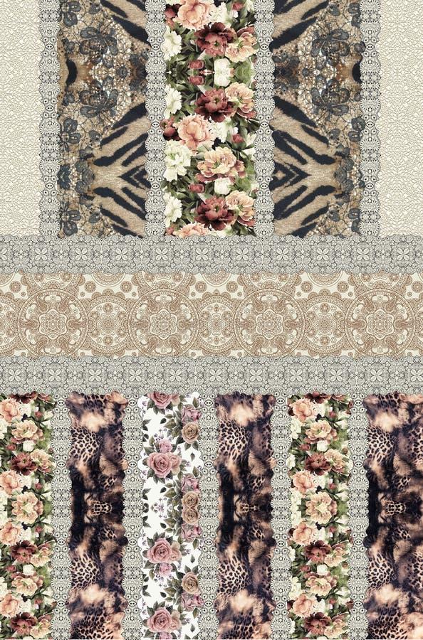Projeto animal da textura da cópia étnico ilustração royalty free