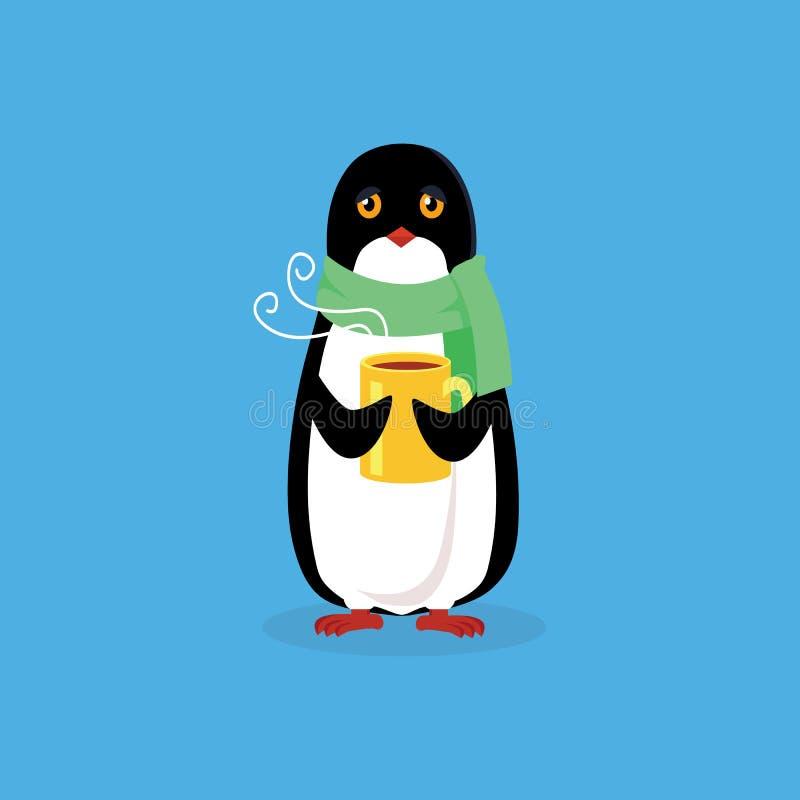 Projeto animal do pinguim liso ilustração do vetor
