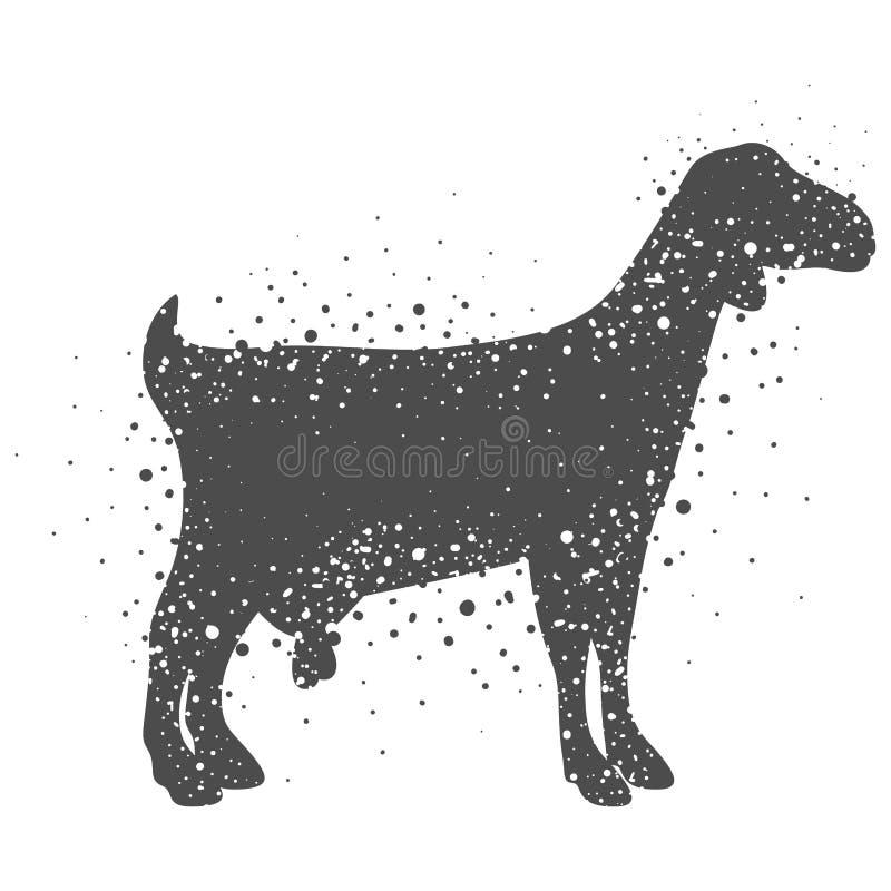 Projeto animal isolado da cabra ilustração stock