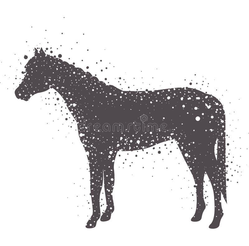 Projeto animal isolado do cavalo ilustração stock