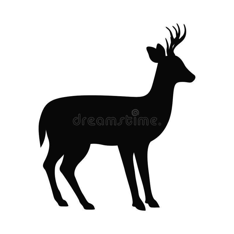 Projeto animal isolado dos cervos ilustração royalty free