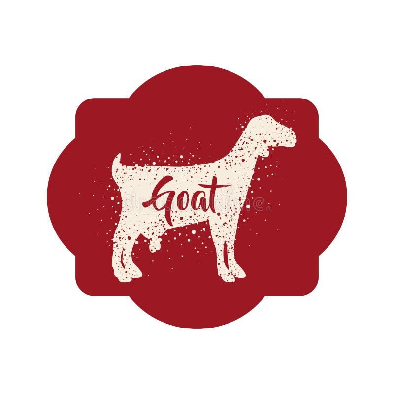 Projeto animal isolado dos rebanhos animais da cabra ilustração royalty free