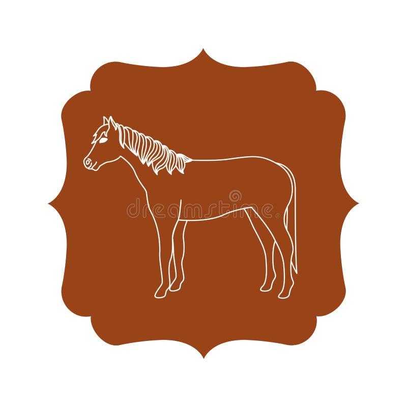Projeto animal isolado dos rebanhos animais do cavalo ilustração do vetor