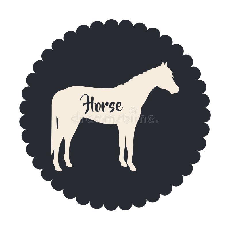 Projeto animal isolado dos rebanhos animais do cavalo ilustração royalty free