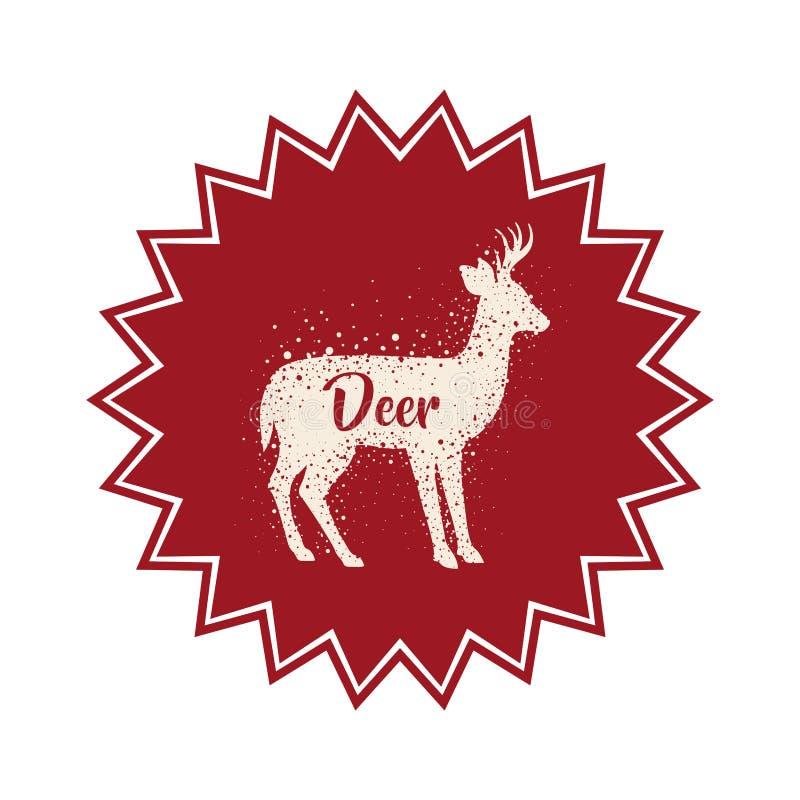 Projeto animal isolado dos rebanhos animais dos cervos ilustração do vetor