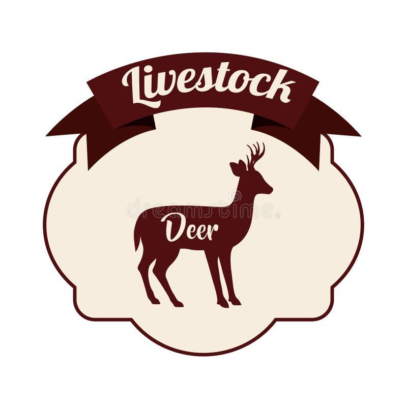 Projeto animal isolado dos rebanhos animais dos cervos ilustração stock