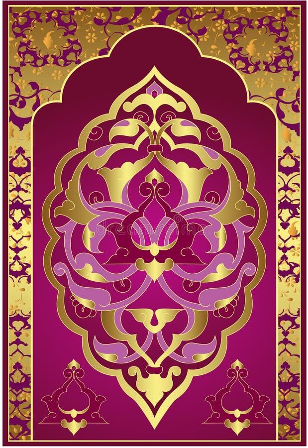 Projeto antigo do ouro do otomano foto de stock royalty free