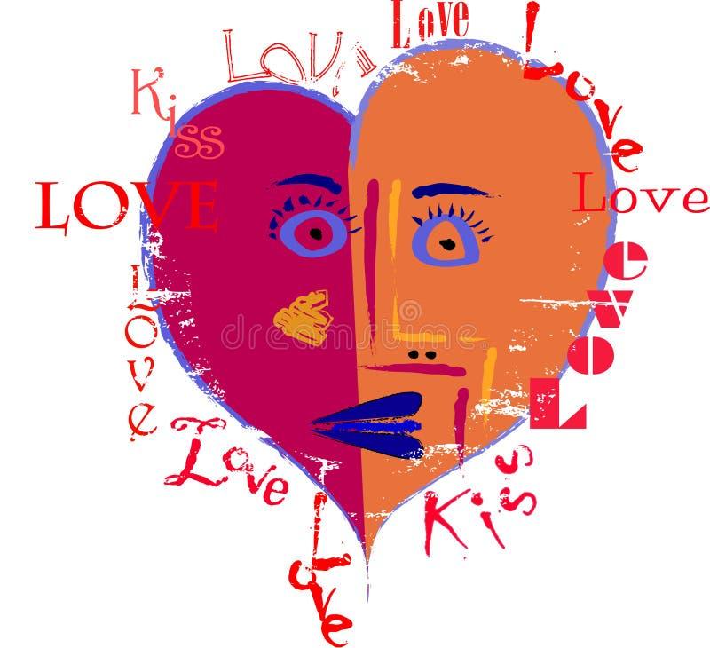 Projeto artístico do amor ilustração stock