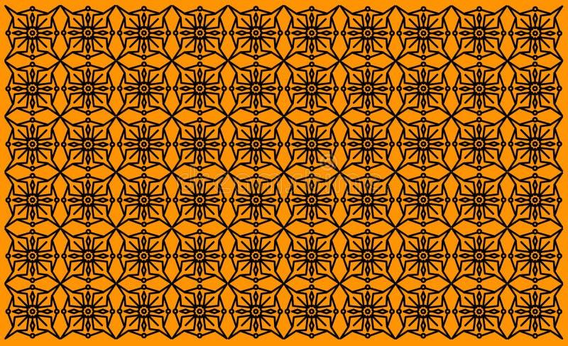 Projeto artístico do teste padrão no fundo alaranjado Indiano Mandala Design do vintage Fundo, molde, design web, quadro, neg?cio ilustração stock