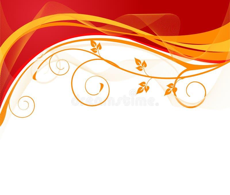 Projeto artístico floral do vetor ilustração do vetor