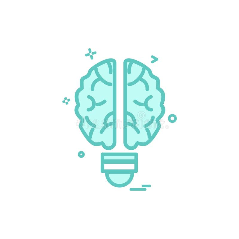 Projeto artificial do vetor do ícone da inteligência do cérebro ilustração stock