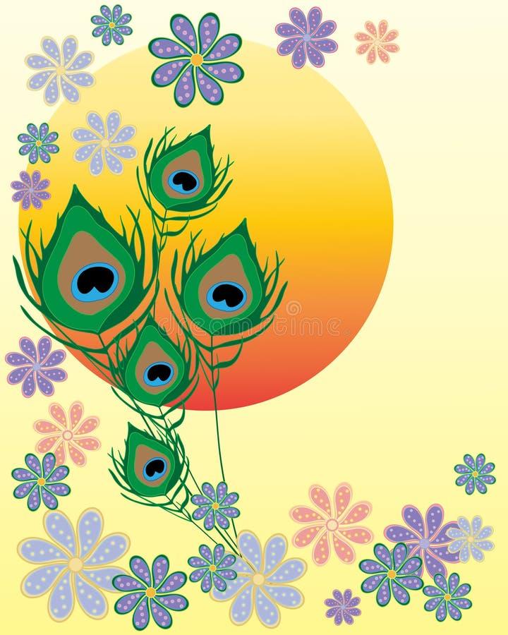 Projeto asiático da flor ilustração do vetor