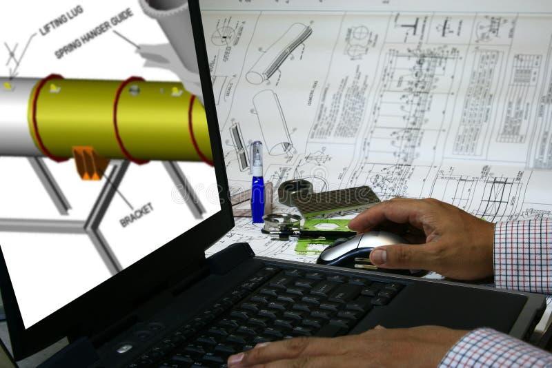 Projeto assistido por computador imagem de stock