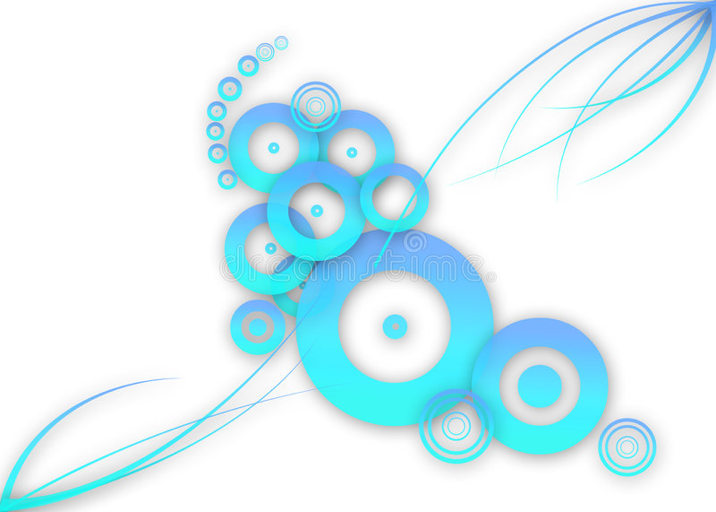 Projeto azul abstrato ilustração stock