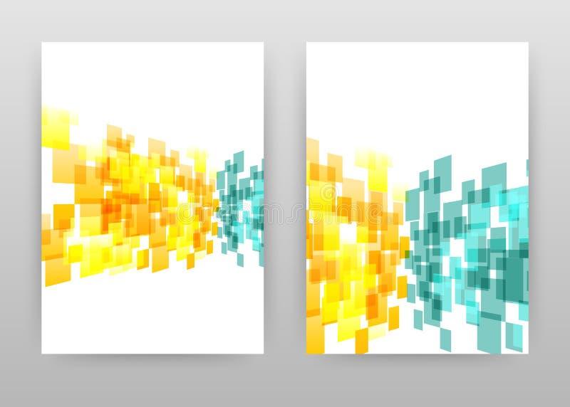 Projeto azul amarelo geométrico para o informe anual, folheto, inseto, cartaz Ilustração geométrica do vetor do fundo para o inse ilustração do vetor