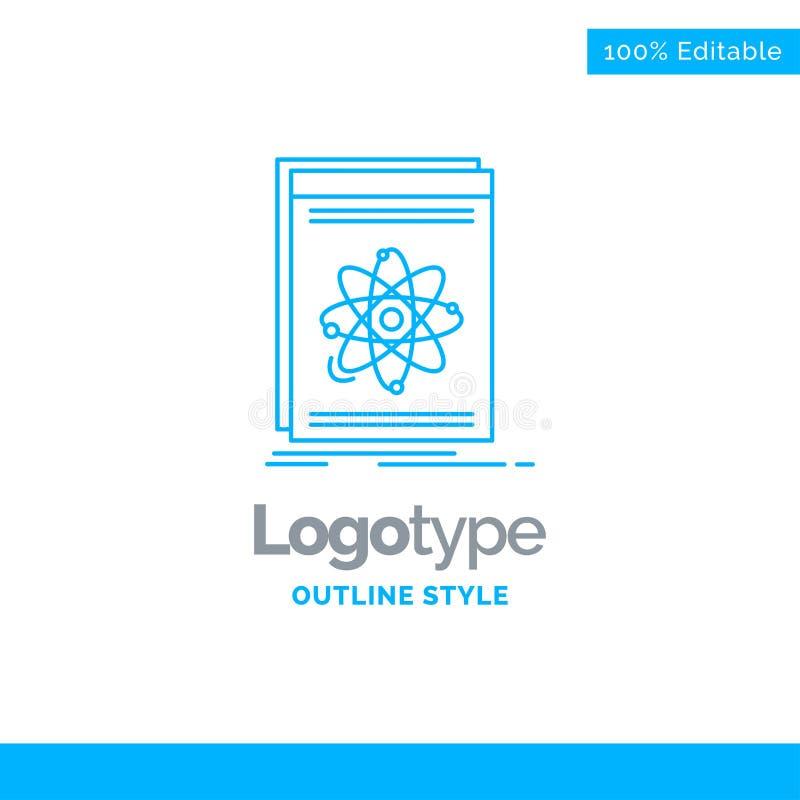 Projeto azul do logotipo para Api, aplicação, colaborador, plataforma, scie ilustração stock