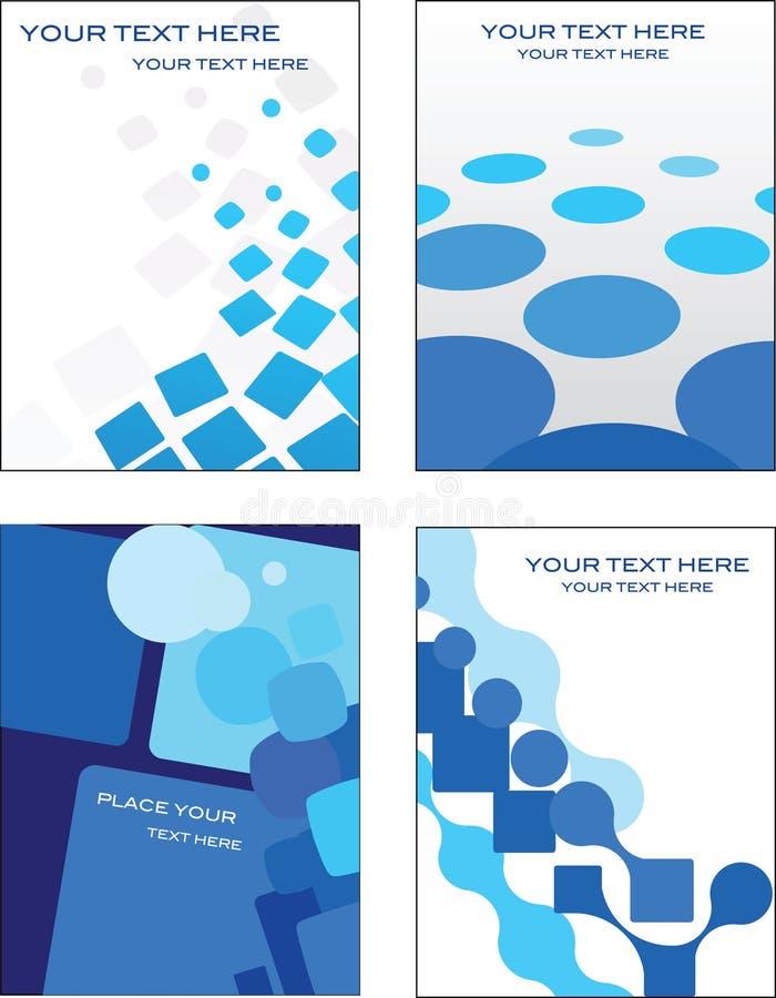 Projeto azul do molde do cartão ilustração do vetor
