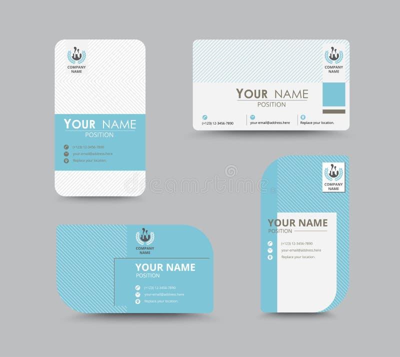 Projeto azul do molde do cartão do contato comercial Estoque do vetor ilustração royalty free
