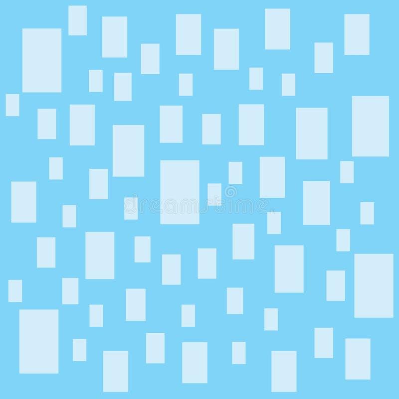 Projeto azul do papel de parede de Pettern do quadrado na ilustração azul do fundo ilustração do vetor
