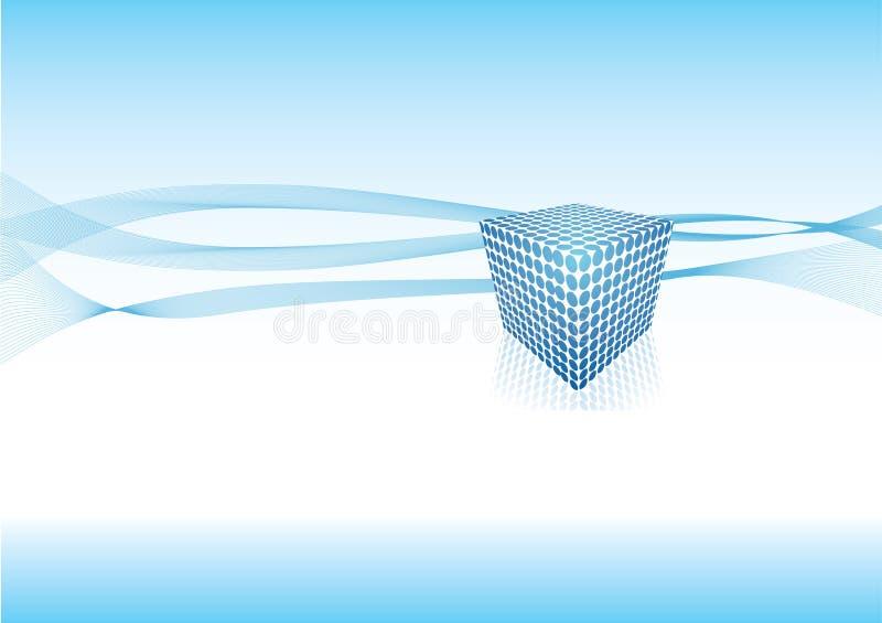 Projeto azul do sumário do cubo ilustração do vetor