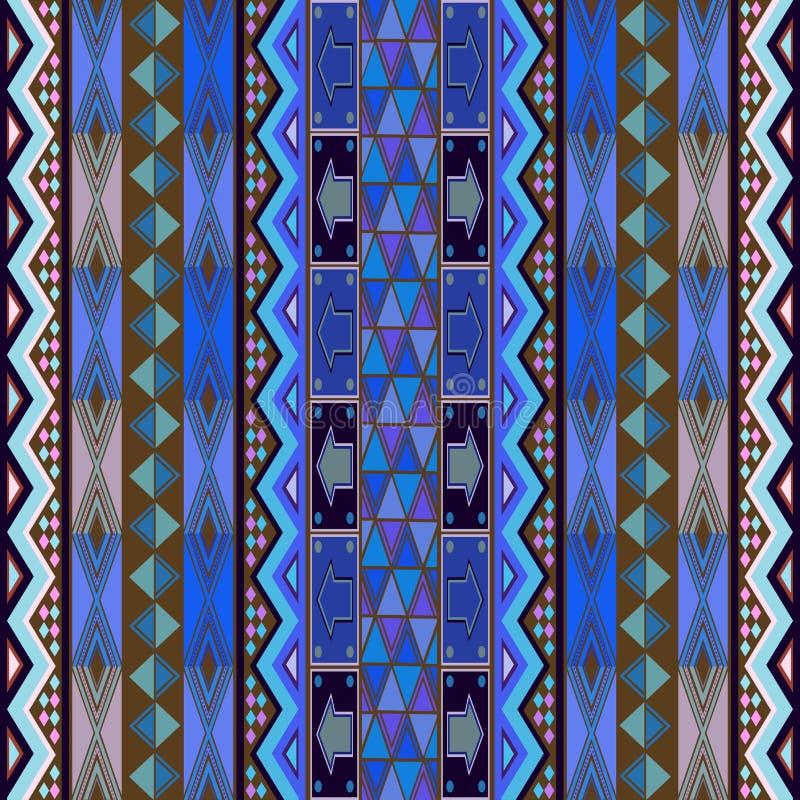 Projeto azul do tapete ilustração do vetor