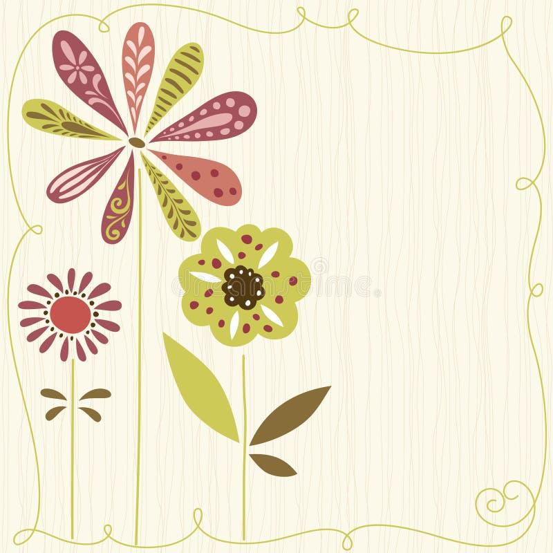 Projeto bonito das flores ilustração do vetor