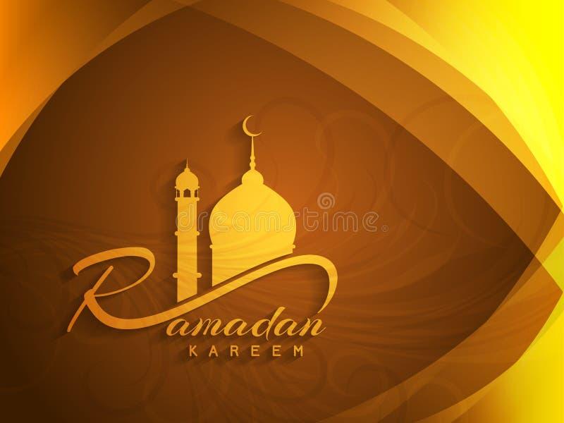 Projeto bonito do fundo do kareem de ramadan ilustração do vetor