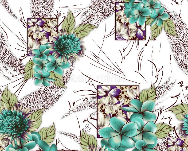 Projeto bonito do fundo do woth da flor ilustração stock